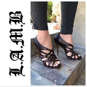 L.A.M.B  Gwen Stefani Tammy Brown Leather Heel 8.5